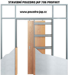 Stavební pouzdro JAP PROFIKIT 900 mm do sádrokartonu, výška průchodu 1970 mm, síla pouzdra 75 mm (dokončená SDK příčka 100 mm) - 1