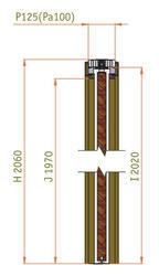 Stavební pouzdro JAP STANDARD 800 mm - jednokřídlé, atypická výška průchodu 2200 - 2700 mm - napište do poznámky - 2