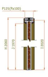 Stavební pouzdro JAP KOMFORT 1250 mm - dvoukřídlé, výška průchodu 2100 mm - 3